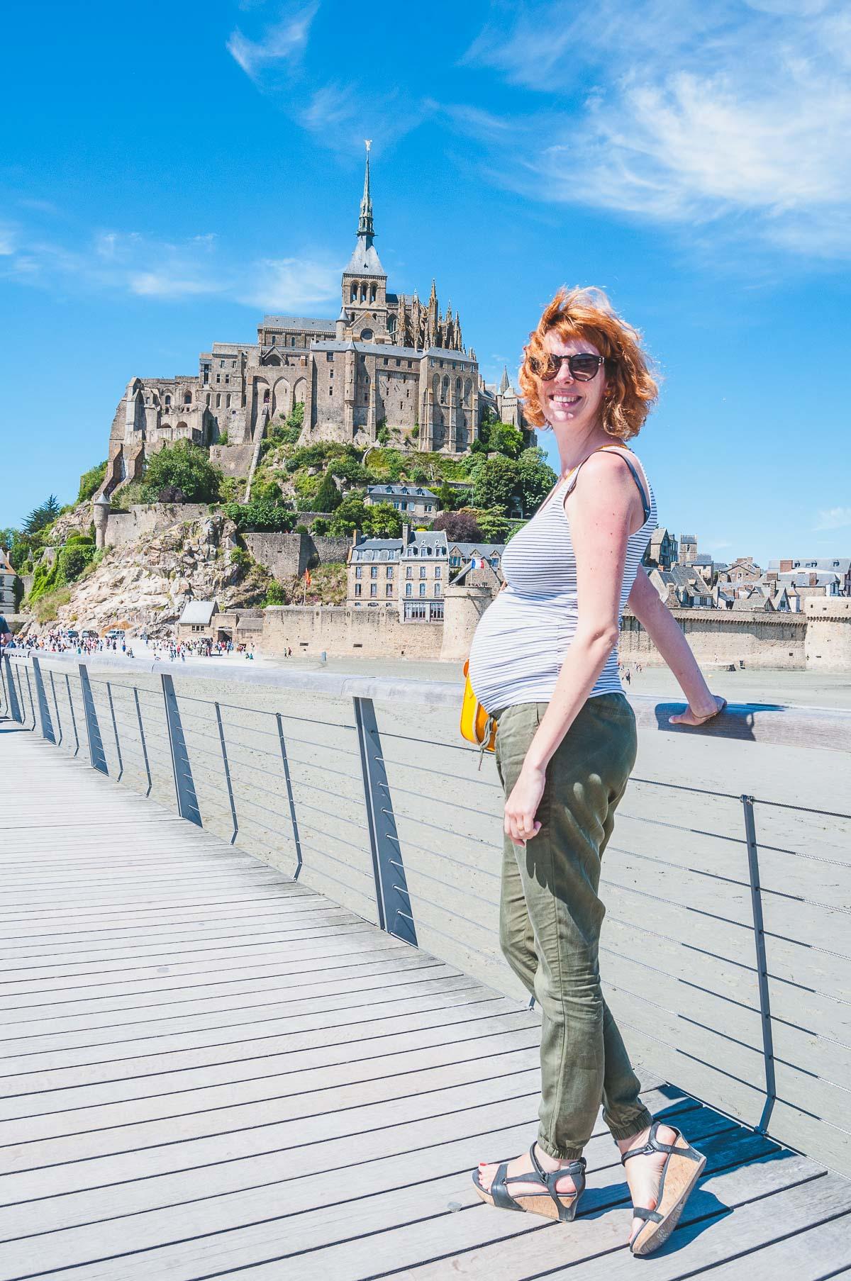 Sanne aan de Mont Saint-Michel