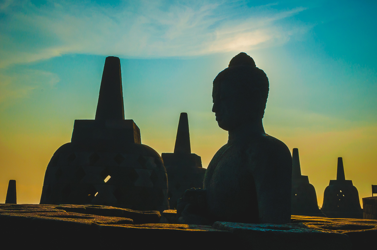 zonsopgang boeddha