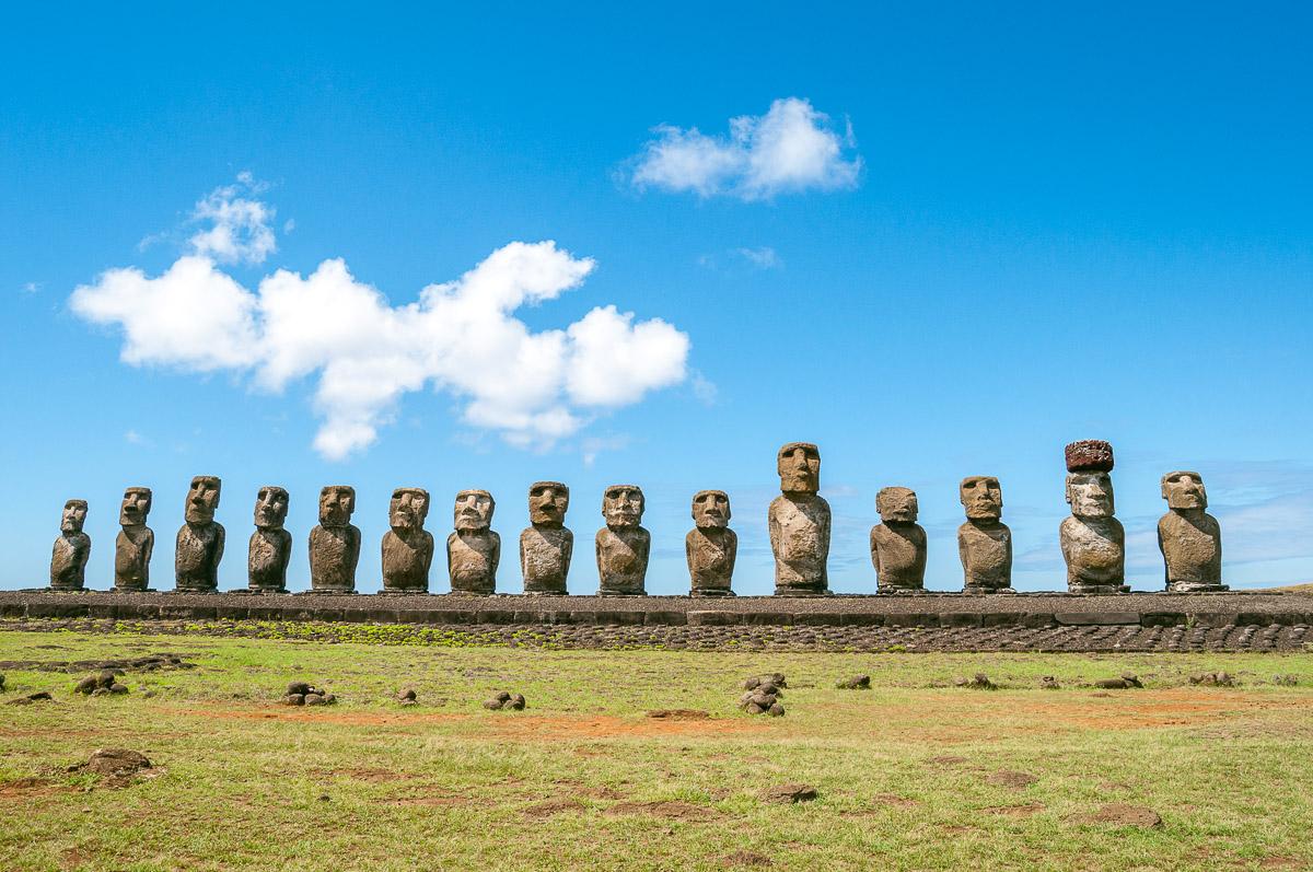 Paaseiland : De Moai route